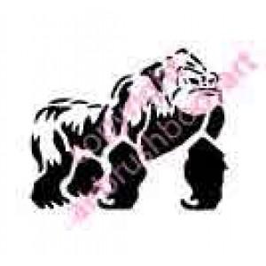 0263 silverback gorilla reusable stencil